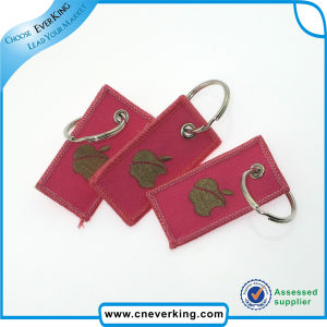 Woven Embroidery Polyester Handmade Keychain pictures & photos