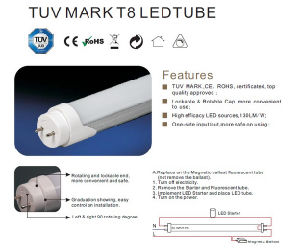 High Quality 100lm/W LED T8 Light 18W 120cm pictures & photos