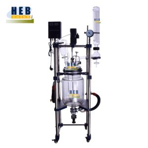 Heb-20L Double Layer Glass Reactor/Jacketed Glass Reactor with 30L Heating Circulation Bath pictures & photos