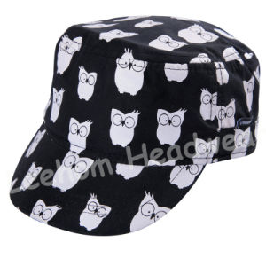 Print Microfiber Peach Baby Kids Army Military Hat Cap pictures & photos