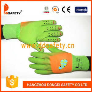 Ddsafety 2017 Orange Cotton Green Latex Glove pictures & photos