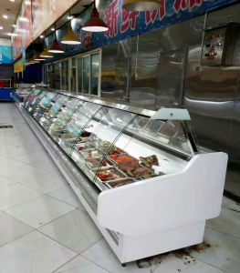 Fan Cooling System Meat Showcase with Ce Certification pictures & photos