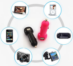 Factory Supply Mini Auto 5V 3.1A USB Phone Charger with LED Indicator pictures & photos