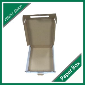 Handle White Corrugated Packaging Box OEM pictures & photos