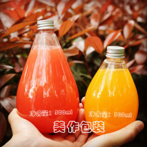 300ml 400ml 500ml Beverage Glass Bottles for Fruit Juice Container pictures & photos