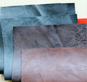 PU Synthetic Leather for Garment Bag pictures & photos