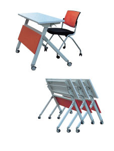 Melamine Laminated MDF School Office Conference Training Folding Table (HX-FD038) pictures & photos