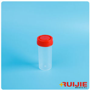 Disposable Plastic Urine Cup with Screw Cap pictures & photos