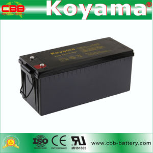 DC200-12 12V200ah Deep Cycle AGM Battery for Solar System pictures & photos