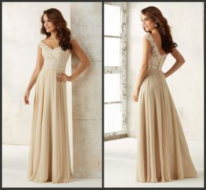Custom Evening Dress Lace Chiffon Party Prom Gowns J432 pictures & photos