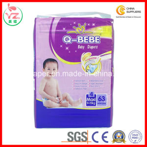 L63 Q-Bebe High Absorption Soft Breathable Disposable Baby Diaper pictures & photos