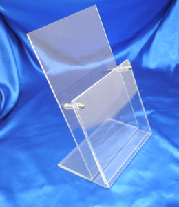 Customize Clear Acrylic Menu Holder Desktop Sign Holder Display pictures & photos