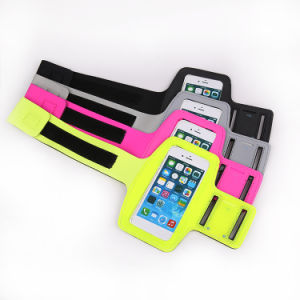 Fitness Adjustable Reflective Armband Phone Bag for iPhone 6/7 pictures & photos
