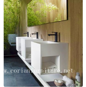Acrylic Solid Surface Bathroom Free Stand Vanity pictures & photos