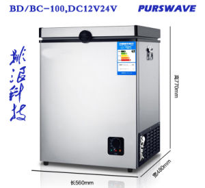 Purswave 100L DC Freezer Portable Refrigerator Solar Fridge DC12V24V48V Battery Freezer -18degree pictures & photos