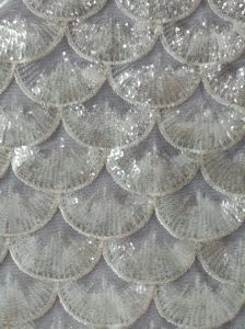 Sequins Voile for Wedding Bridal Evening Dress Hight Quality pictures & photos