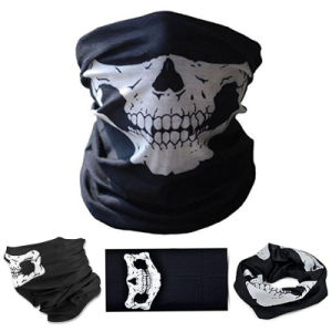 Black Seamless Skull Face Tube Mask Buff Seamless Multi-Function Magic Scarf Halloween Mask pictures & photos