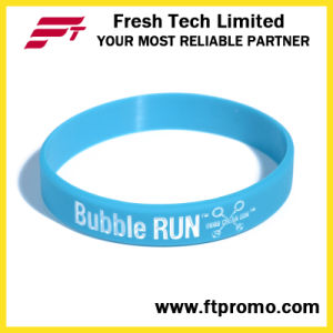 Custom Promotion Gift Silicone Wristband with Printed Logo pictures & photos