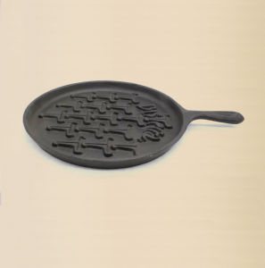 Cast Iron Pancake Plate with Handle Size 21cm pictures & photos