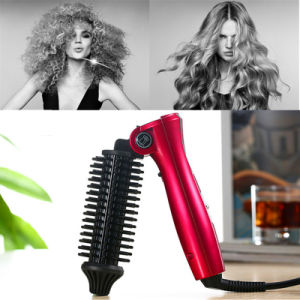 Portable Hair Iron 220V Ceramic Curling Hot Folding Portable Curling Wave Brush pictures & photos
