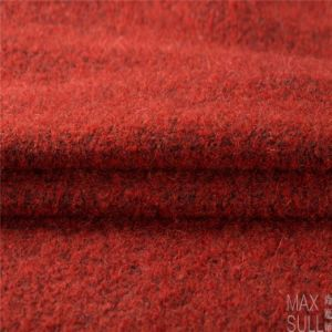 Mohair /Cotton / Wool/Polyester/ Nylon Mixed Wool Fabric in Red pictures & photos
