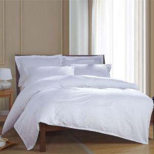 Super Soft Durable Satin Strip Hotel Cotton Bedding Set Bed Linen (WS-2016001)