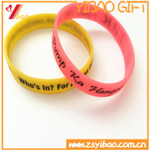 Custom Deboss Logo and Size Soprt Silicone Wristband/Bracelet for Promotion Gift, Rubber Band pictures & photos