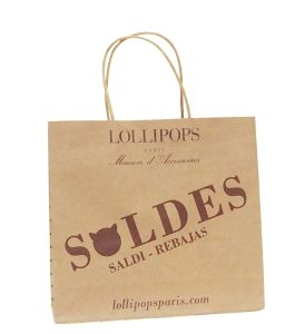 Custom Order Recyclable Feature Luxury Kraft Paper Shopping Bag pictures & photos