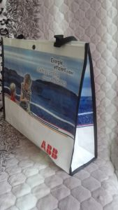 Laminated Recycle Promotion PP Woven Handbag Shopping Bag pictures & photos
