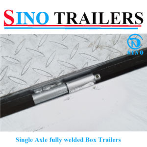 OEM Factory Galvanized Fully Welded Single Axle Trailers