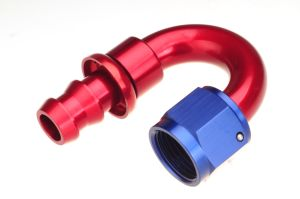 An6 Aluminum 180degree Push on Hose End Fittings pictures & photos