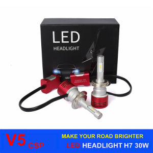 Car Accessory High Power LED 60W 8400lm V5 Csp H7 Car LED Headlight 6000k pictures & photos