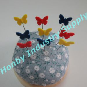 Trendy Style 54mm Colorful Butterfly Head Straight Sewing Pins