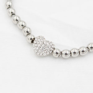 Heart Charm Bracelet with Stainless Steel Beads for Valentine′s Gift pictures & photos