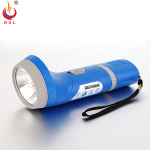 Plastic LED Magnet Torch Rechargeable Flashlight with Cigarette Light FT-018d