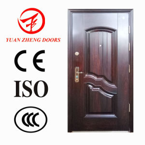 Hot Trans-Print High Commercial Security Steel Door in Egypt pictures & photos