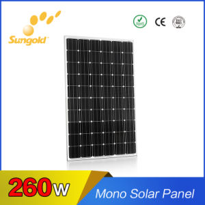 Best High Efficiency Mono Solar Panel 260W Mono 36V Solar Cells pictures & photos