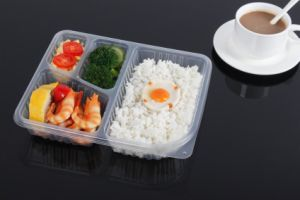 Microwave Safe Thermoforming 4 Compartment Disposable Lunch Box pictures & photos