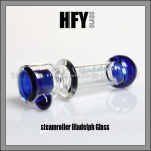 Hfy Glass Steamroller Illadelph Glass Pipe Blue Onie Hand Pipe Smoking Chillum pictures & photos