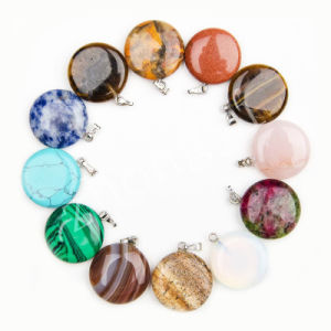 Mix Color Natural Stone Pendants Charms for Necklaces Making pictures & photos