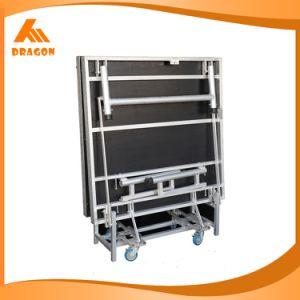 Indoor Height 610-810mm Aluminum Folding Stage, Portable Concert Stage pictures & photos