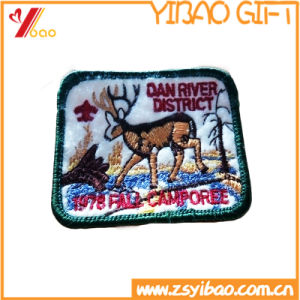 Custom Animal Embroidery Badge, Embroidery Patches, with Woven Label (YB-Embroidery 409) pictures & photos