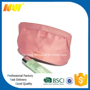Pink PU Leather Cosmetic Bag Travel Toiletry Makeup Kit Pouch Storage Bag pictures & photos