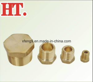 Brass Pipe Hex Head Plug Mip Fitting pictures & photos