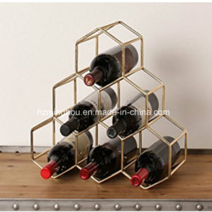 Countertop Lightweight Metal 6 Bottle Wine Rack for Home pictures & photos
