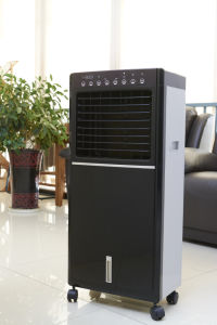 Low Power Consumption Room Use Cooling Fan Mobile Air Cooler Lfs-100A with Ice Packs pictures & photos