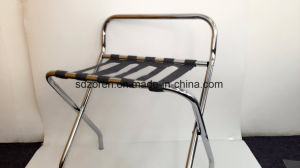 Hotel Luggage Rack with Back in Chrome pictures & photos
