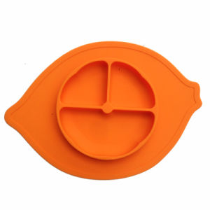 One-Piece 3compartment FDA Silicone Kids Toddler Feeding Place Mat Plate pictures & photos