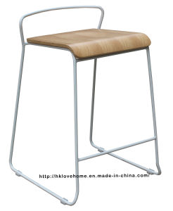 Modern Steel Furniture Wooden Counter Bar Stool pictures & photos