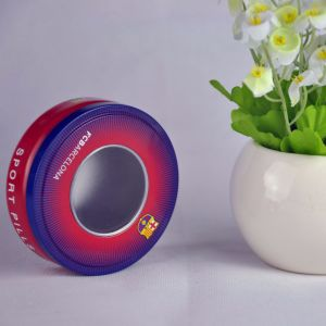 2016 Food Grade Material Round Metal Tin Box with PVC Window pictures & photos
